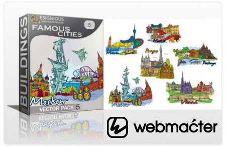 Famous Cities Giga Pack: 96 Different Cities + Bonus